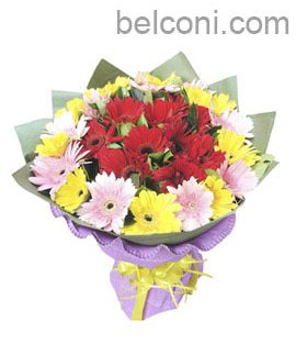 Gerbera and Sunflower Bouquet 19