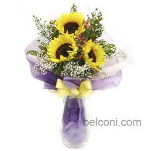 Gerbera and Sunflower Bouquet 16