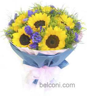Gerbera and Sunflower Bouquet 18