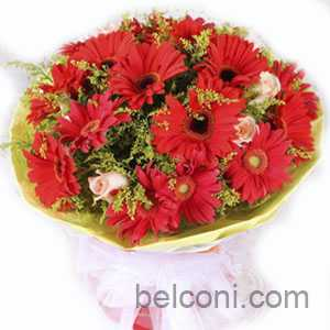 Gerbera and Sunflower Bouquet 08