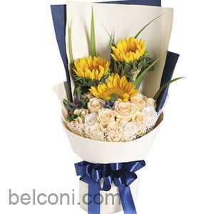 Gerbera and Sunflower Bouquet 01