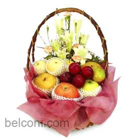Flower and Fruit Basket 01