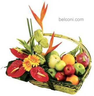 Flower and Fruit Basket 04