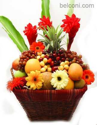Flower and Fruit Basket 06