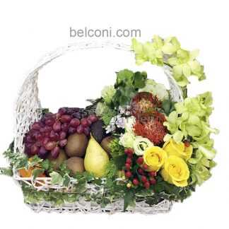 Flower and Fruit Basket 08