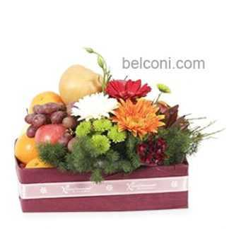 Flower and Fruit Basket 09