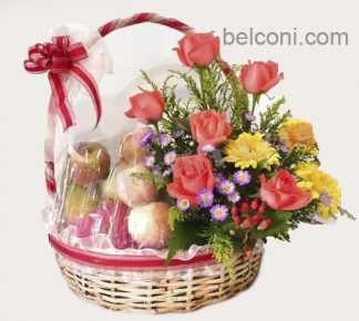 Flower and Fruit Basket 12