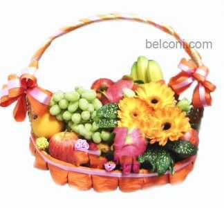 Flower and Fruit Basket 19