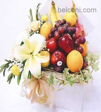 Flower and Fruit Basket 21