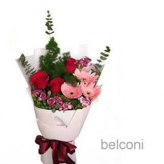 Gerbera with Roses.
