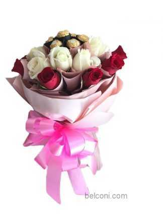 Chocolate With Mix Roses