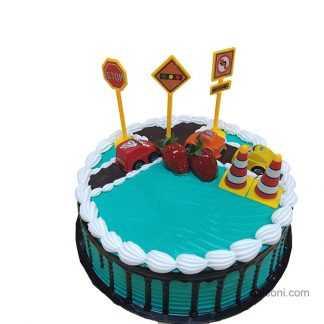 Z Traffic 3D cake