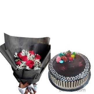 A soft chocolate cake