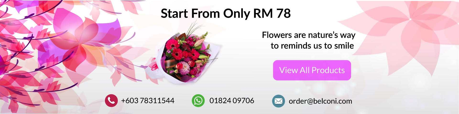 02 - Best Flower Shop In Malaysia | Same Day Free Express Flower Delivery - Belconi Florist -